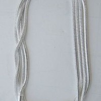 28 inch Sterling Silver Plated Snake Necklace - .925 Stamped - New
