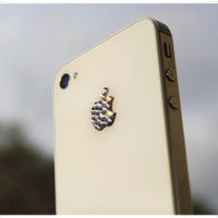 Bling Authentic Swarovski Apple logo icon sticker for iPhone 2 3 3G 4 4S iPod