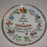 1950s G C (Gift Craft)  The Flower Emblems Of Canada Butchart Gardens - Japan Fine China
