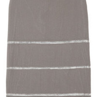 Jil Sander Mesh-striped silk pencil skirt - 75% Off Now at THE OUTNET