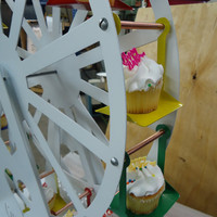 Mini Cupcake Ferris Wheel by KnobCreekMetalArts on Etsy