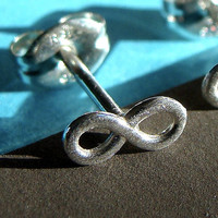 Single Tiny Infinity Post Earring in Sterling Silver Stud Earring