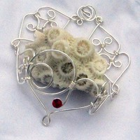 Silver Wired Hearts Bracelet
