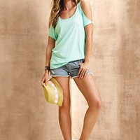 Cut-out Shoulder Tee - Dream Tees - Victoria's Secret