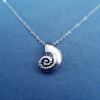 The Little Mermaid, Ariel&#x27;s Voice Shell, Sterling Silver, necklace