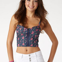 Allover Print Chambray Bralette Floral
