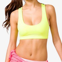 Neon Crisscross Sports Bra