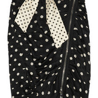 Sonia by Sonia Rykiel Polka dot-print cotton and silk-blend skirt - 60% Off Now at THE OUTNET