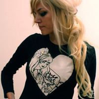 Rock and Roll Barbie TShirt by imyourpresent on Etsy