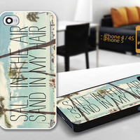 PCFH025 Hawaii salt in the air sand in my hair - Custom Design For iPhone 5 Plastic And iPhone 4 / 4S Case Cover - Black / White Cases