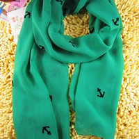 Little Anchors Infinity Scarf (Green)