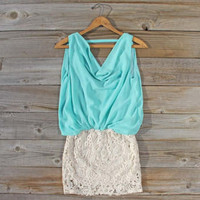 Sea Crystal Dress in Mint, Sweet Women&#x27;s Bohemian Clothing