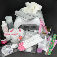 ALL IN ONE FULL UV GEL NAIL SET 36W UV CURING LAMP #789