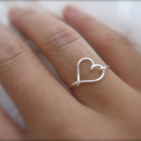 Valentines Day - Silver Heart Ring