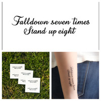 Stand for Something - temporary tattoo (Set of 6)