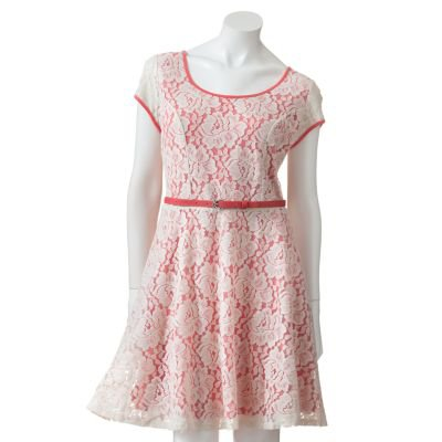 LC Lauren Conrad Lace Fit and Flare Dress