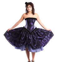 Alternative Steampunk Wedding Gown Purple