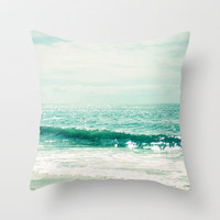 Sea of Tranquility... Throw Pillow by Lisa Argyropoulos | Society6