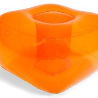 Bubble Inflatables Inflatable Ottoman, Tangerine Orange