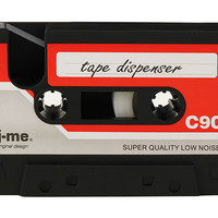 CASSETTE TAPE DISPENSER | 70s and 80s Cassettes Tapes Scotch Tape Dispenser For Desk, Fun, Rubber, Desk Accessory | UncommonGoods