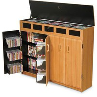 Top Load Media Cabinet | Electronics & Gadgets | SkyMall