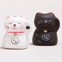 Lucky Cat Figurines, Set of 2