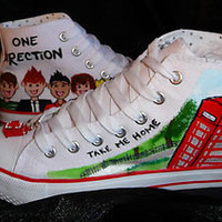 ONE DIRECTION HIGH TOPS MADE TO ORDER, HAND MADE MAY BE PERSONALISED