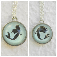 Under the Sea Double Sided Petite Necklace - Inspired from Disney&#x27;s The Little Mermaid featuring Ariel