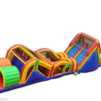 Commercial Inflatable Extreme Rush Obstacle Course Bounce House Moonwalk