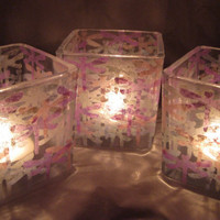 Dragonfly Candle Holder Trio by TerraCasa on Etsy