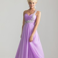 2013 New Long Chiffon One Shoulder Formal Prom Dress Ball Gown Party Evening