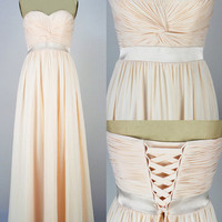 WowDresses — Alluring A-line Sweetheart Floor Length Prom Dress with Lace-up