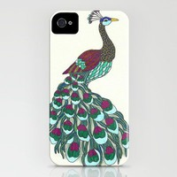 Technicolor Peacock - Marker Art iPhone Case by BrickHouseArt | Society6