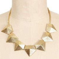 Gold Geometric Statement Necklace