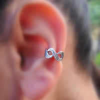 Sterling Silver Infinity  Ear Cuff Cartilage/catchless/helix