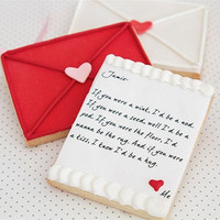 Love Letter Cookies 1 Dozen by bbsweetslove on Etsy