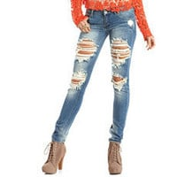 Destroyed Denim Skinny Jean: Charlotte Russe