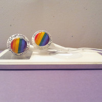 Rainbows and pride earbuds