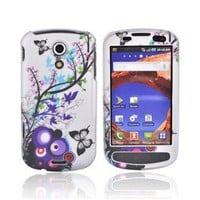 Samsung Epic 4G Rubberized hard Case Spring Blossom on Silver