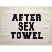 After Sex Towel 16 x 26 Hand Towel Novelty Gag Gifts