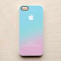 Pastel iPhone Case 5 4 4S Apple Logo Ombre Pink Aqua Blue