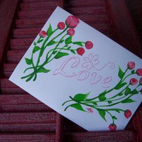 Love and Roses Valentines Card by monkmama54 on Zibbet