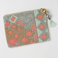 Large Fractal Beaded Pouch - Anthropologie.com