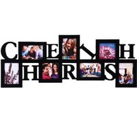 Amazon.com: 7 Opening Cherish Photo Picture Frame - 12AD016-B ADECO - Wall Art,Wall Collage,Holds Five 5x3.5 Inch, Two 4x4 Inch Photos Great Gift,Wooden,Black: Home & Kitchen