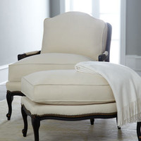 "Old Hickory Tannery - ""Ellsworth"" Collection Bergere Chair & Ottoman - Horchow"