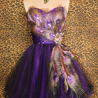 PURPLE PEACOCK PROM COCK...