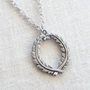 Laurel Wreath Necklace in Pewter - Graduation - Academia
