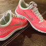 BRAND NEW WOMEN&#x27;S NIKE FREE 3.0 RUNNING SHOES!! ADORABLE, RARE COLOR COMBO!!