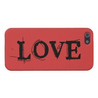Savvy iPhone 5 rugged font Love Cover For iPhone 5 from Zazzle.com