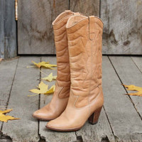 Vintage Tobacco Cowboy Boots, Sweet Vintage Cowboy Boots